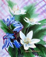 Available_Flowers - Spring Flowers - Watercolor