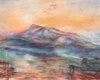 Landscapes - Mount Rigi Switzerland Lake - Watercolor